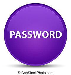 Password special purple round button