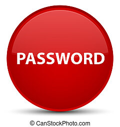 Password special red round button