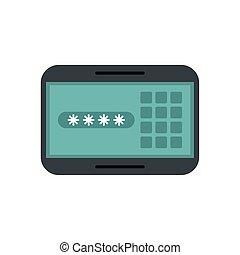 passwort, tafel, digital, code, sicherheit
