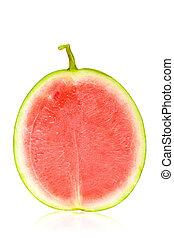 pastèque, moitié