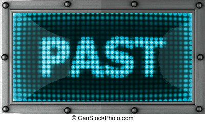 past  announcement on the LED display