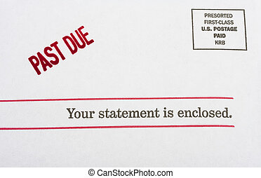 Envelope with past due on it