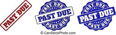 PAST DUE Grunge Stamp Seals