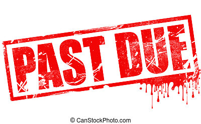Past due in red ink stamp
