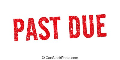 Past Due Red Ink Stamp