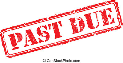 Past due rubber stamp vector illustration. Contains original...