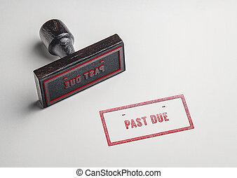 Past Due Rubber Stanp