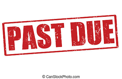 Past due stamp - Past due grunge rubber stamp, vector...