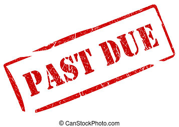 Past due stamp isolated on white
