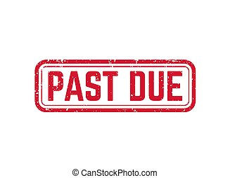 past due vector red stamp on white