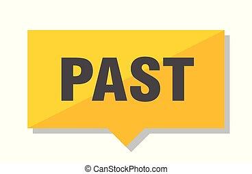 past price tag - past yellow square price tag