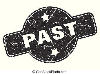 past round grunge isolated stamp