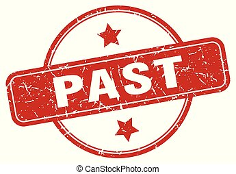 past sign - past vintage round isolated stamp