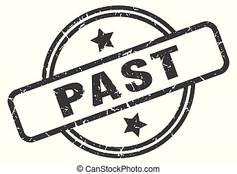 past stamp isolated on white