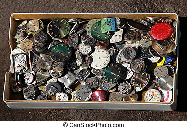 pile of old clockwork in the Box