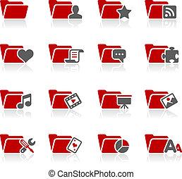 pasta, ícones, -, 2, --, redico, série