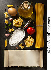 pasta and food ingredient