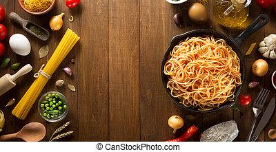 pasta and food ingredient