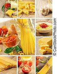 Pasta and food ingredients