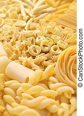 pasta assortment, italian food