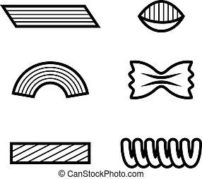 pasta black line icon