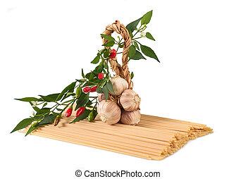 Pasta chili and garlic
