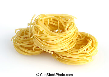 pasta - chinese noodles - chinese noodles on white