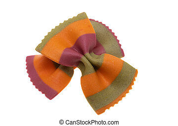 pasta colored bows isolated