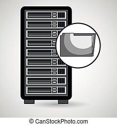 pasta, computador, arquivo, servidor