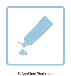 pasta dentífrica, tubo, icono