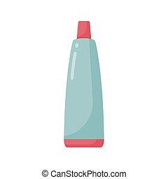pasta dentífrica, tubo, vector, plano, icono