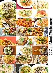 Pasta Food Collage