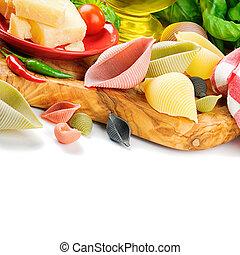 pasta, fris, ingredienten, italiaanse