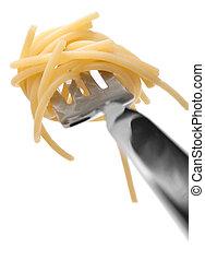 pasta, gaffel