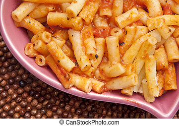 Pasta in Heart Shaped Bowl