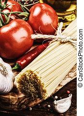 pasta, ingredienten, italiaanse