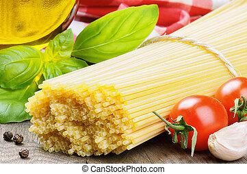 pasta, ingredienti, italiano