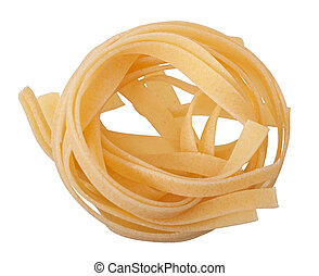 Pasta isolated on white background. Top view