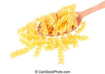 pasta, italiensk, sked, ved