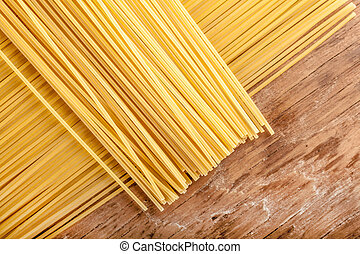 pasta lined up in a row