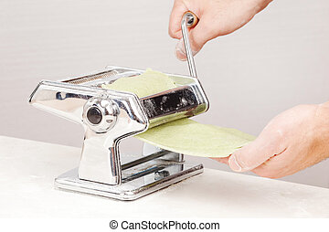 Pasta Maker - the process of making noodles using pasta...