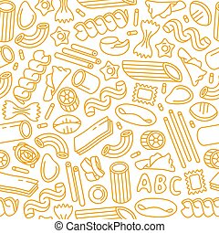pasta, modello, varietà, seamless