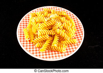 pasta on white background, digital photo picture as a background