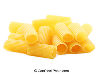 Pasta penne isolated on a white background