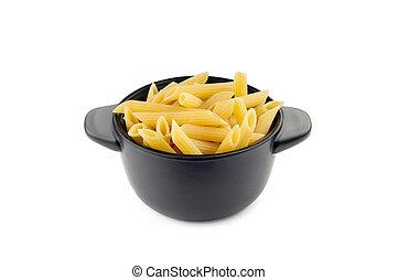 """Pasta """"Penne Rigate"""" in a Black Cup"""