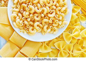 pasta, rauwe