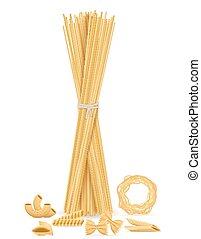 pasta set icons vector illustration