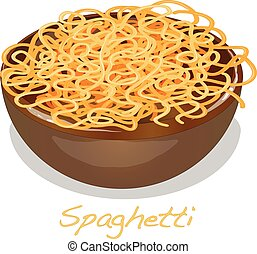 Pasta. Spaghetti in plate.