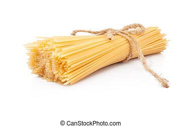 Pasta spaghetti - Italian pasta spaghetti isolated on white...