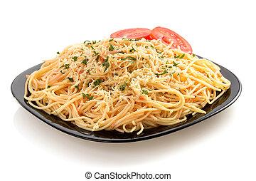 pasta spaghetti macaroni on white - pasta spaghetti macaroni...